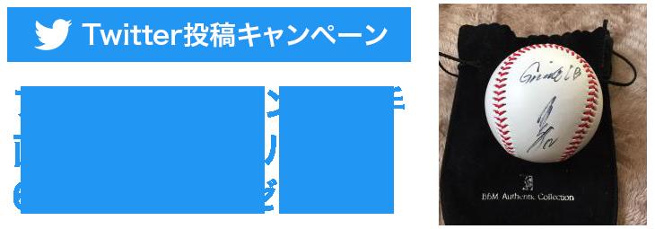 Twitter投稿キャンペーン「プロ野球レジェンド選手直筆サインボールプレゼント」